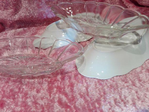 Porcelana Karolina miseczka salaterka na sałatę rybę szkło ząbkowane