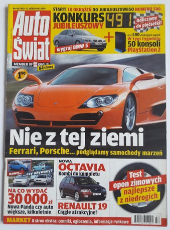 Auto Swiat Nr 491 - magazyn motoryzacyjny