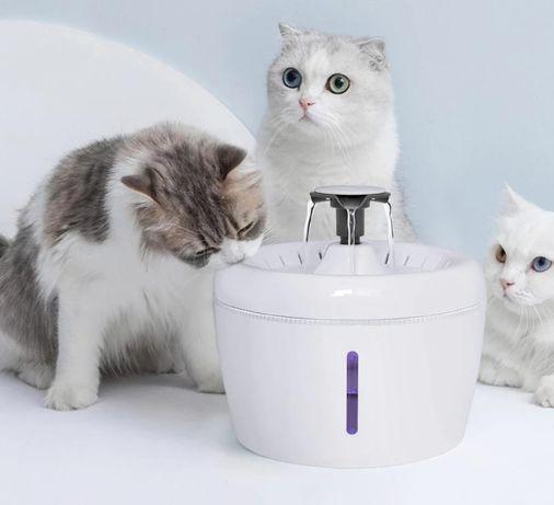 Fonte com 3 saídas água para gatos e cães Bebedouro reservatório 2.5L