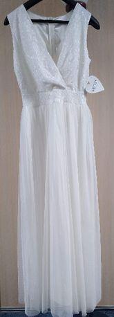 Suknia ślubna biała, roz.42