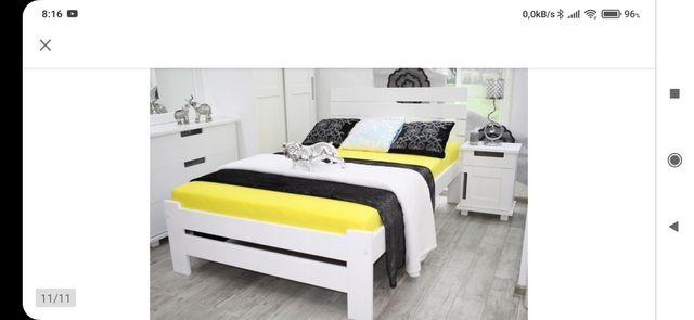 Łóżko 120x200 drewniane, białe