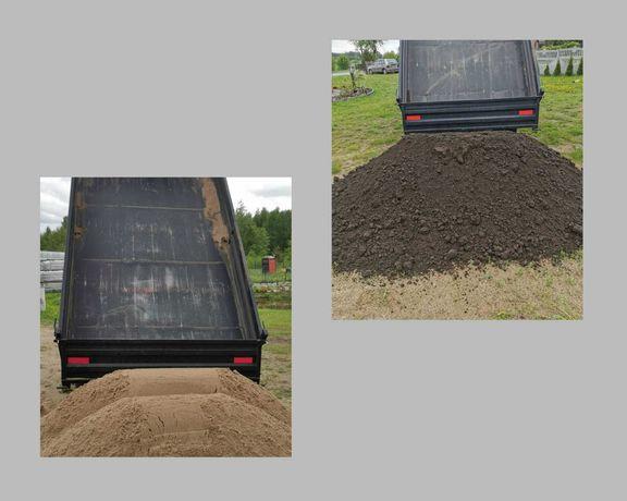 CZARNA ZIEMIA idealna pod trawnik, transport małą wywrotką 4,5 t