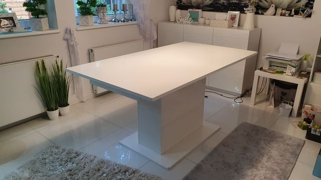 Nowoczesny Stół do jadalni Biały