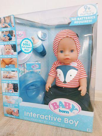 Оригинал Baby Born Blue Eyes Кукла пупс Беби Борн голубые глазки 43см