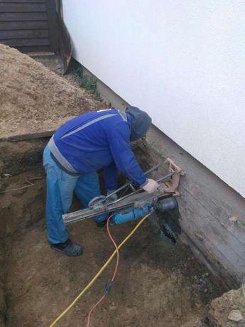 Алмазная резка сверление отверстий в бетоне, кирпиче, граните, газоб.