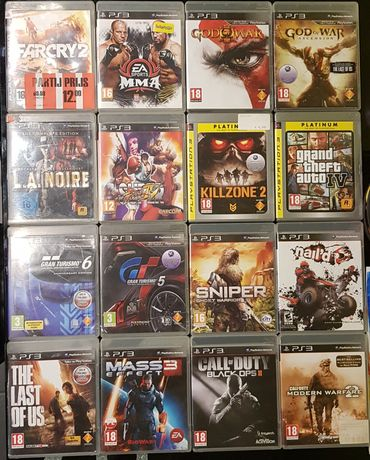 Gry ps3, gran turismo, last of us, cod, god of war, mass effect sniper