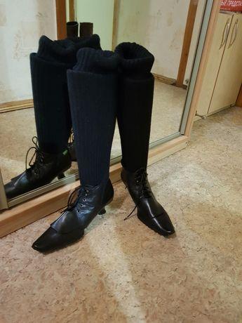Продам ботинки, 37 размер, кожа