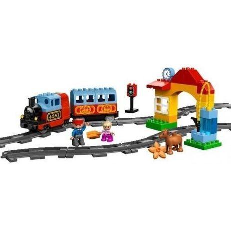 Lego Duplo Мой первый поезд + дополнительные рельсы, оригинал б/у