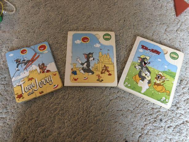 Puzzle drewniane Tom i Jerry