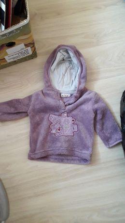 Bluza dziecięca fioletowa rozmiar 74