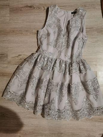 Sukienka rozmiar 40 Lou illuminate srebrna