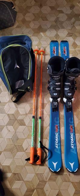 Atomic Salomon Zestaw narciarski juniorski  120cm