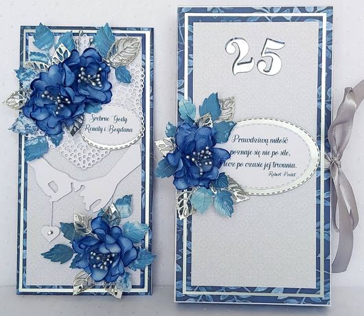 Kartka na rocznicę ślubu w ozdobnym pudełku