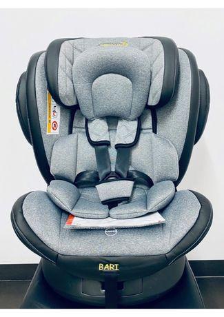 Nowy fotelik samochodowy obrotowy 360, ISOFIX,0-36 kg model BARI