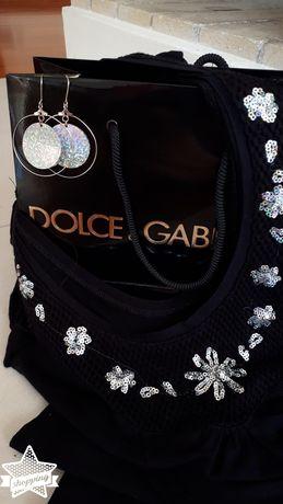 Bluzeczka Dolce&Gabbana + marynarka Artisti Italiani+ kolczyki