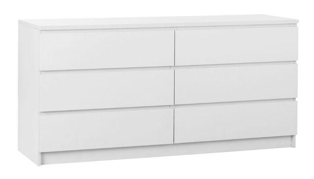 Komoda LIMFJORDEN 3+3 szuflady biały 161 cm, Wys: 79 cm, Głę 48