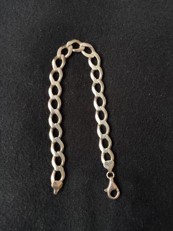 Bransoleta bransoletka srebrna 925 23g pancerka gruba