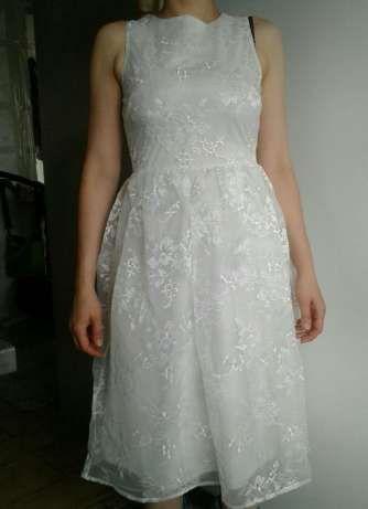 Prześliczna sukienka idealna na ślub cywilny, wesele czy uroczystości