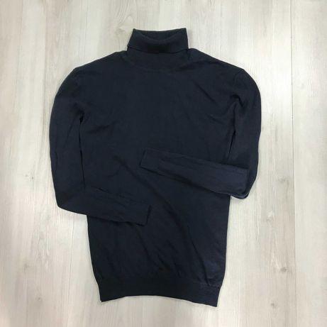 L-XL Гольф Kiabi темный кофта с высоким воротником свитер легкий