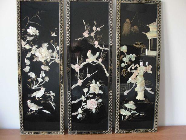 Obrazy, panele chińskie - macica perłowa