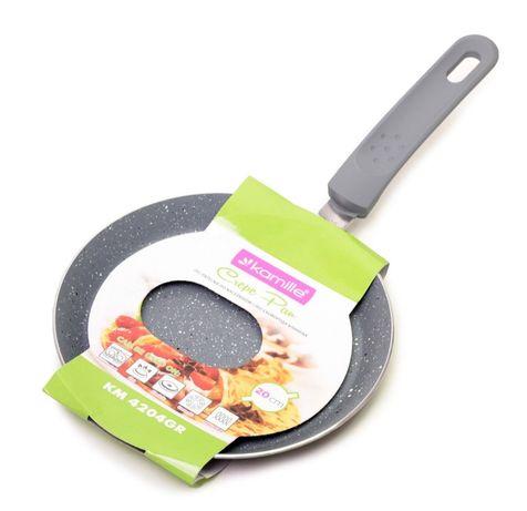 Сковорода блинная Kamille 20см с гранитным покрытием сковородка