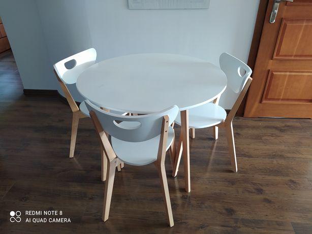Biały stolik okrągły