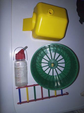 Домик, колесо для хомячка