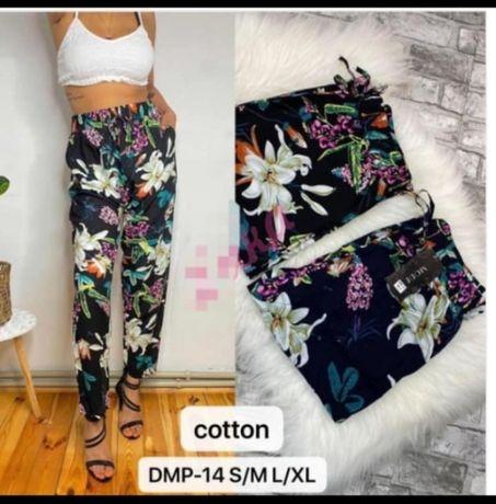 spodnie kwiatowe