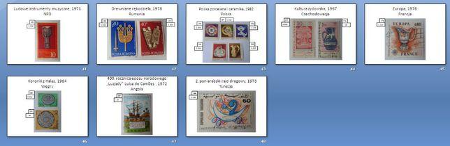 Znaczki pocztowe (głównie skasowane) - Polska, Europa, Afryka, Azja