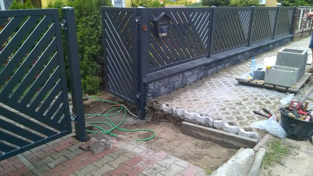 Montaż ogrodzeń betonowych i metalowych