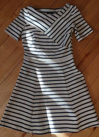 sukienka marynarska żeglarska Tommy Hilfiger rozkloszowana 0 xs s