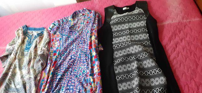 Três vestidos de diferentes feitios (valor cada)