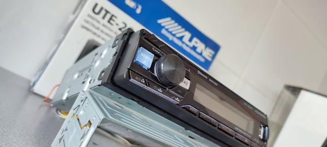 Radio samochodowe Alpine UTE-200 bluetooth MP3  mikrofon komplet