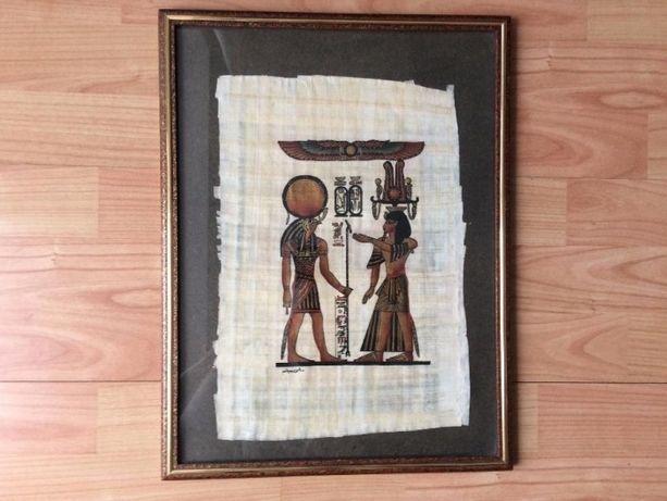 Настоящий египетский папирус в паспарту, в раме, идея подарка