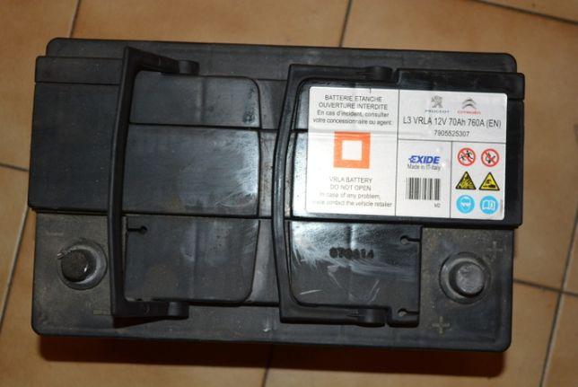 Bateria Usada EXIDE L3 VRLA 12V 70Ah 760A (EN) para Peugeot Citroen