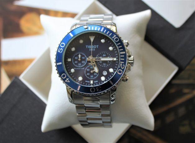 Часы Tissot Chronograph 42 mm Silver&Blue
