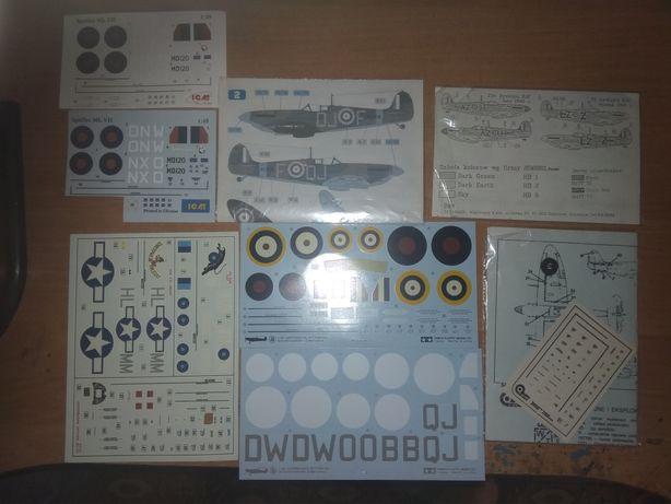 Spitfire 1:72 1:48 złom kalkomanie części ICM Eduard Hasegawa Airfix