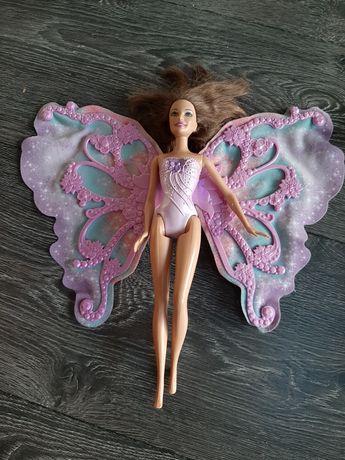 Lalka Barbie wróżka skrzydła zadbana