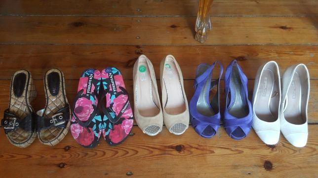 Pantofle klapki roz 37
