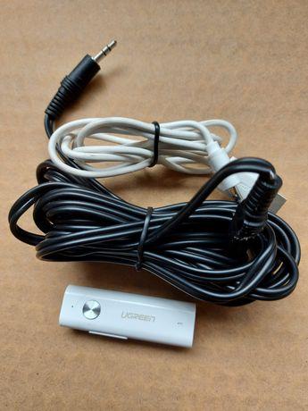 Adapter bluetooth 5,0 AUX Ugreen plus kabel Jack/Jack 3m