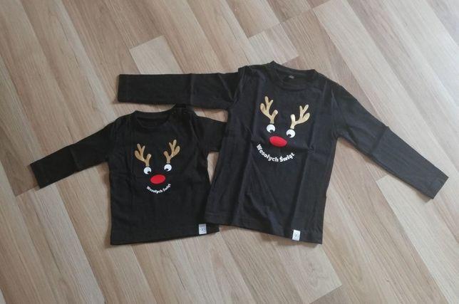 Koszulki świąteczne dla rodzeństwa
