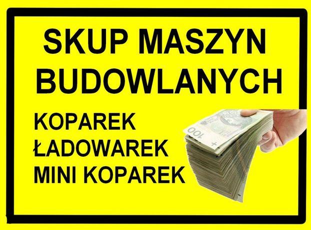 Skup Maszyn Budowlanych ! Minikoparka Mini koparka- jcb bobcat kubota