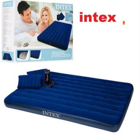 Надувной матрас интекс велюр все размеры с насосом Intex кровать