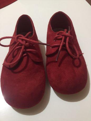 Sapatos menina cor vermelha