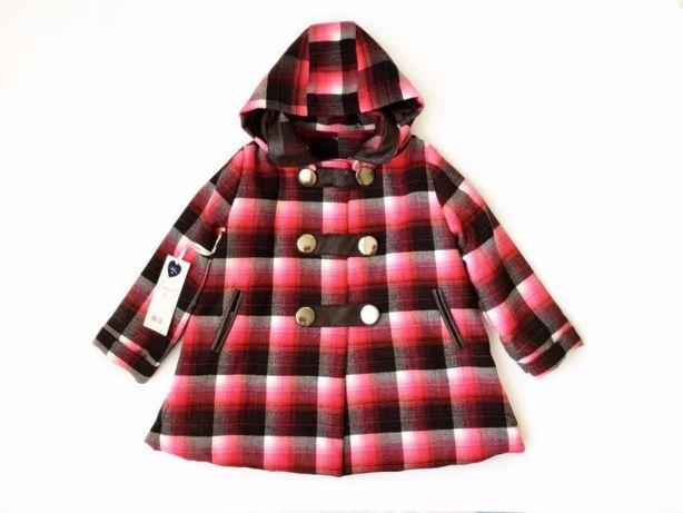 Пальто девочке шерсть кожа утеплитель 3-4г капюшон деми-зима люкс