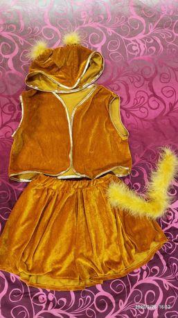 Дитячий костюм білочки або лисички для дівчинки 4-7років