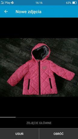 OshKosh kurtka różowa kurteczka pikowana fuksja neon 86 reserved