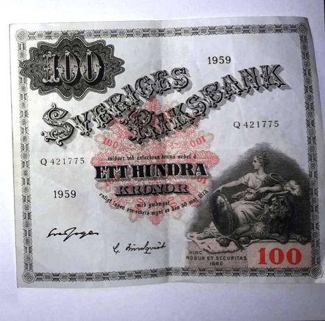 Бона 100 крон 1959р. Швеція