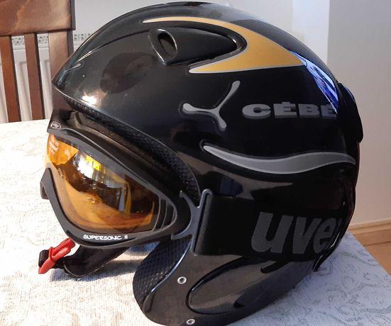 Kask narciarski CEBE z goglami UVEX
