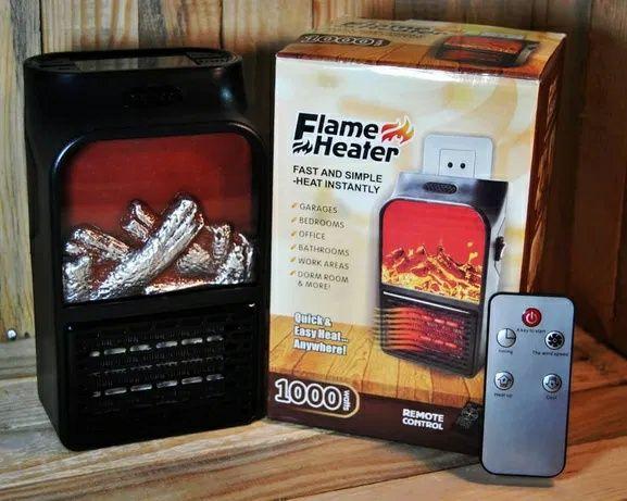 Портативный обогреватель с пультом Flame Heater (500 Вт) Экономный